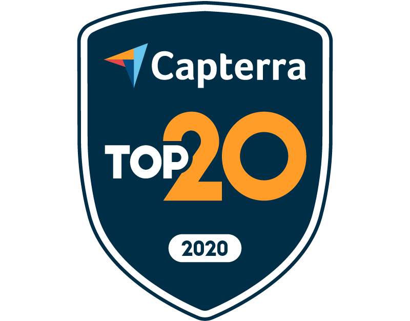 Top 20 badge for Call Centers on Capterra