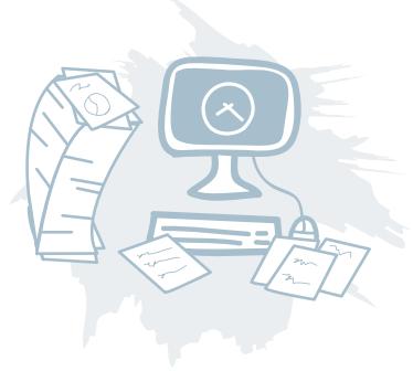 Membership-desk-clutter