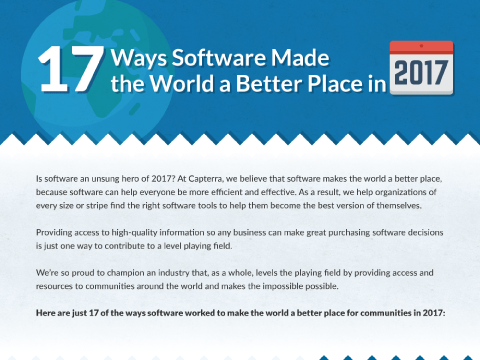 17 Ways Software Made the World a Better Place in 2017