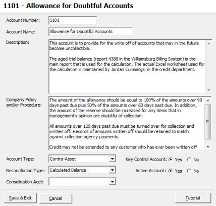 how to create a bad debt allowance account in quickbooks