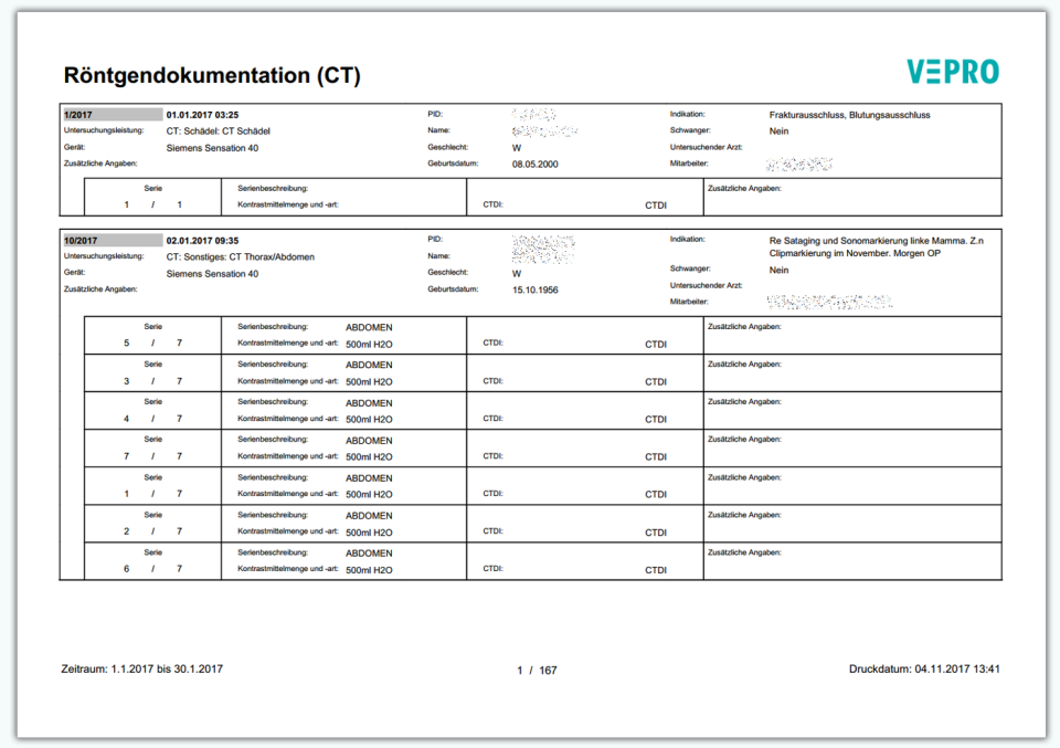 VIS - VEPRO Information System RIS