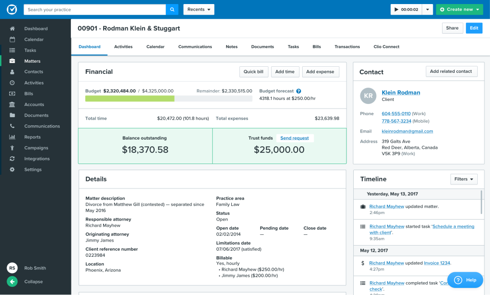 clio reviews and pricing 2018 rh capterra com ProLaw Software Clio Law Practice Management