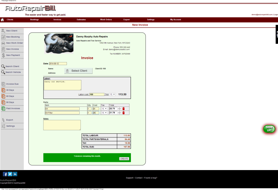 Auto Repair Bill Reviews And Pricing - Auto shop invoice software