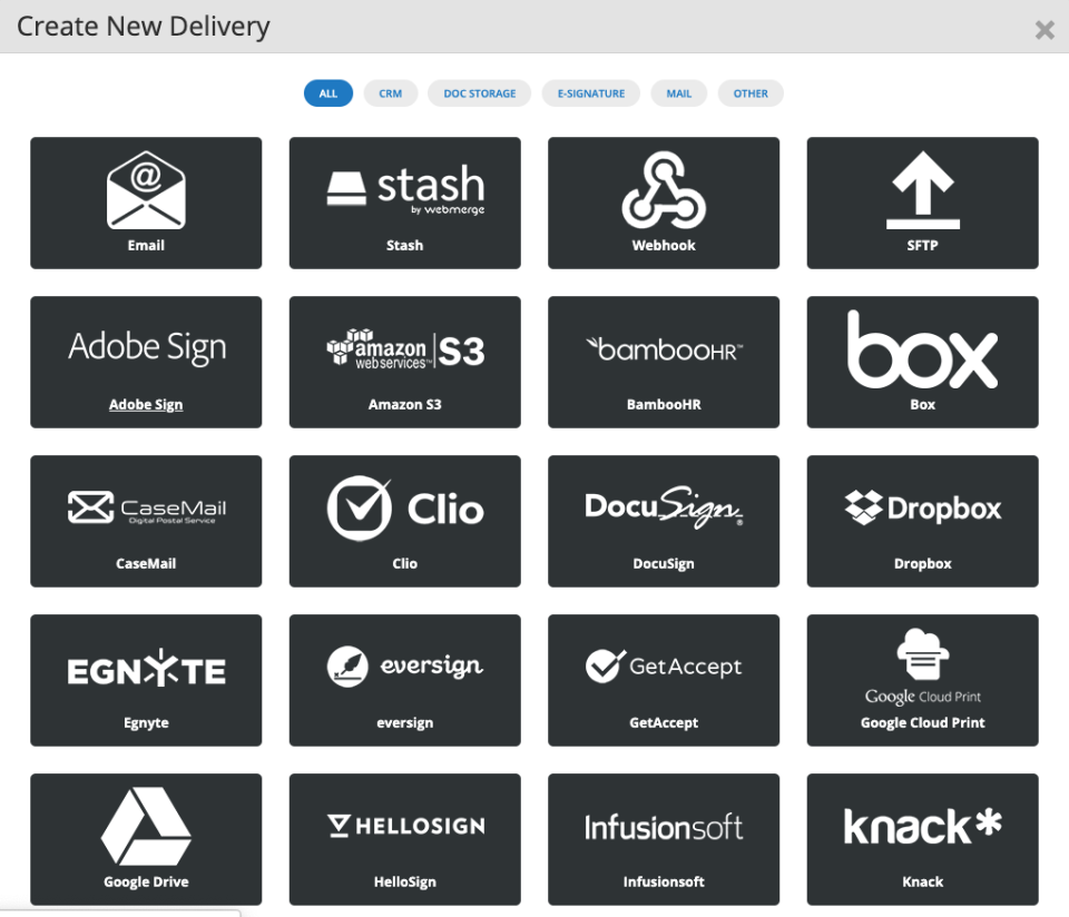 Delivery Integrations