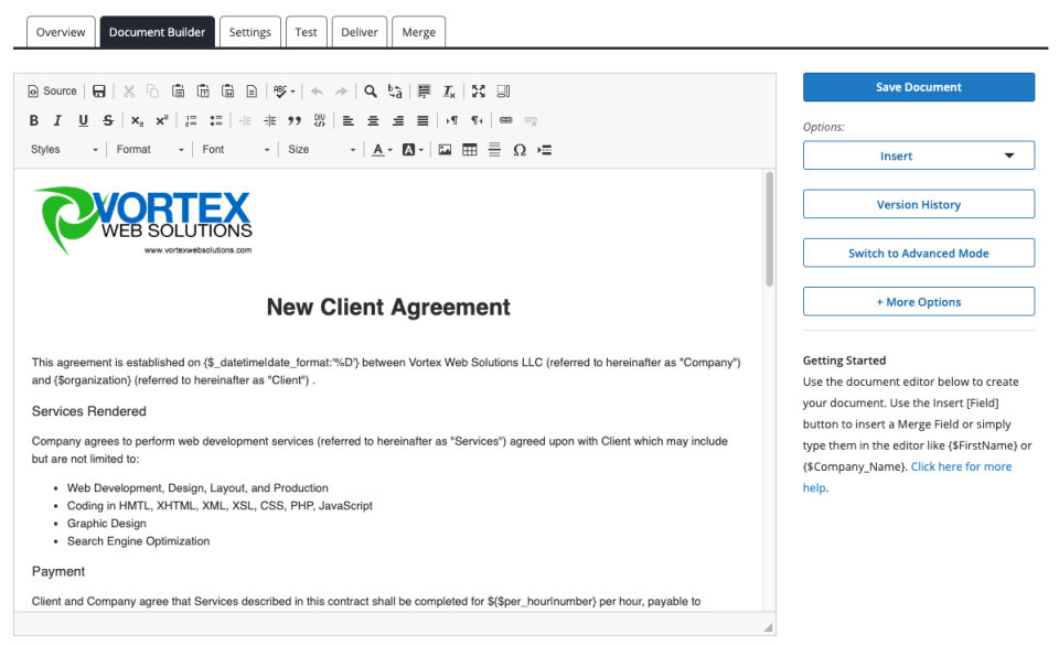 Document Builder