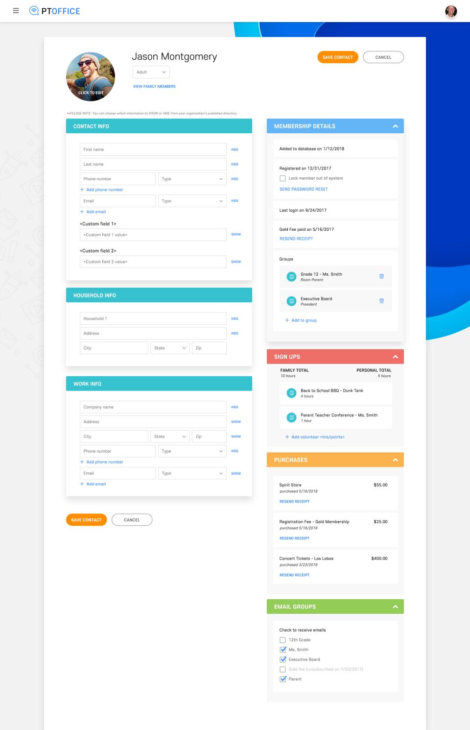 Sample Contact Profile