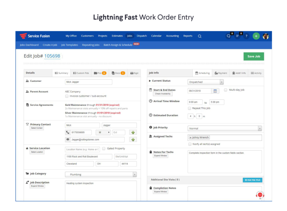 Service Fusion Reviews And Pricing - Invoice software demo