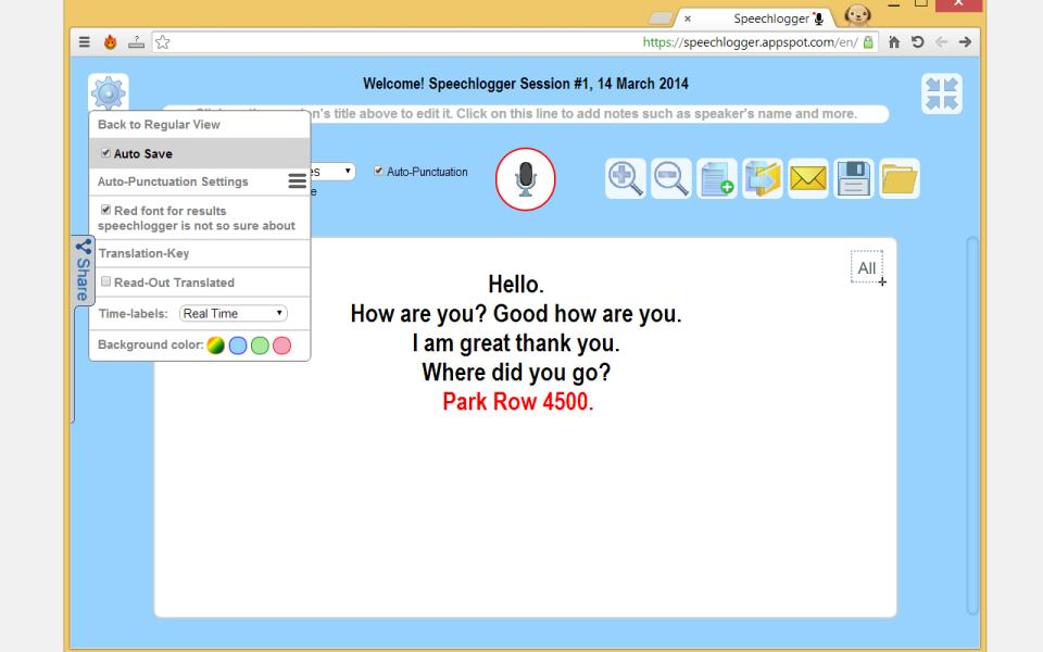 Image result for Speechlogger