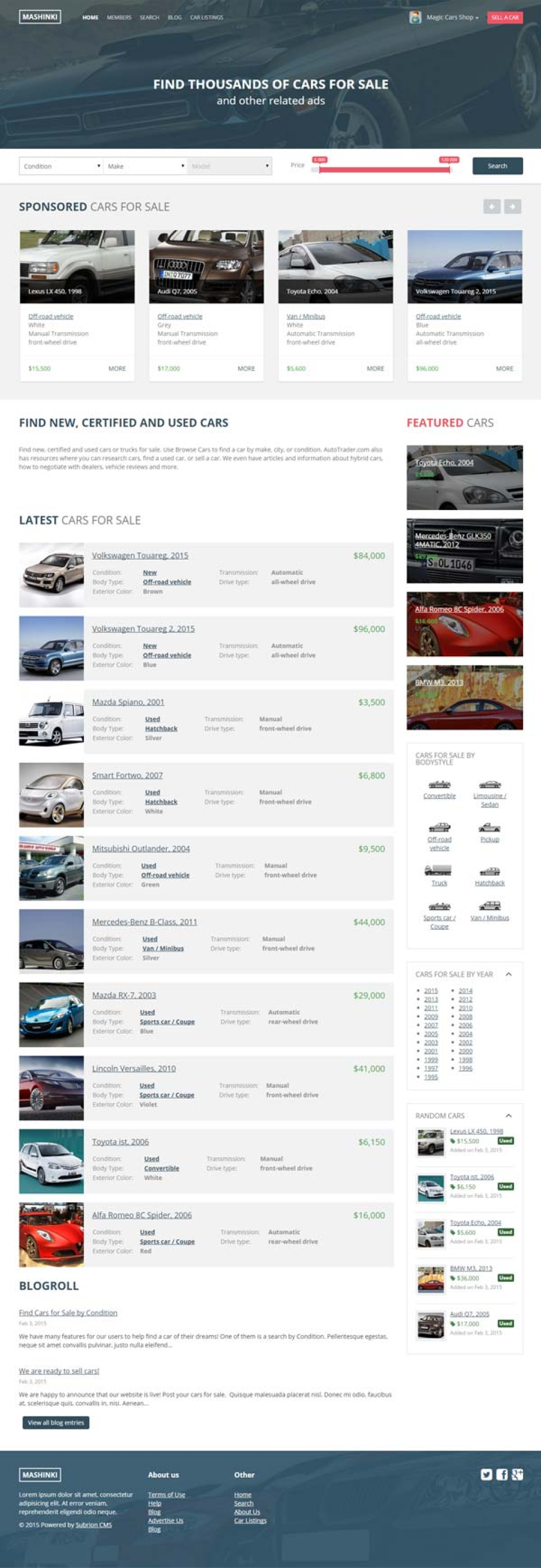 Subrion Auto Classified Reviews and Pricing - 2018