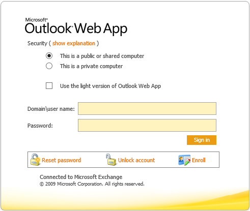 how to change password on outlook 2018