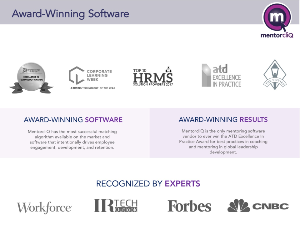 MentorcliQ Employee Mentoring Reviews and Pricing - 2019