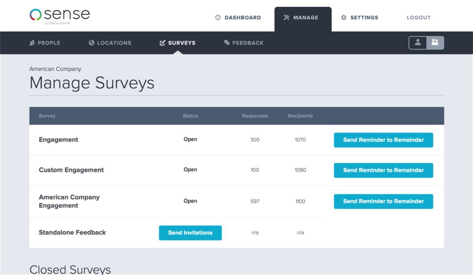 Manage Survey Campaigns