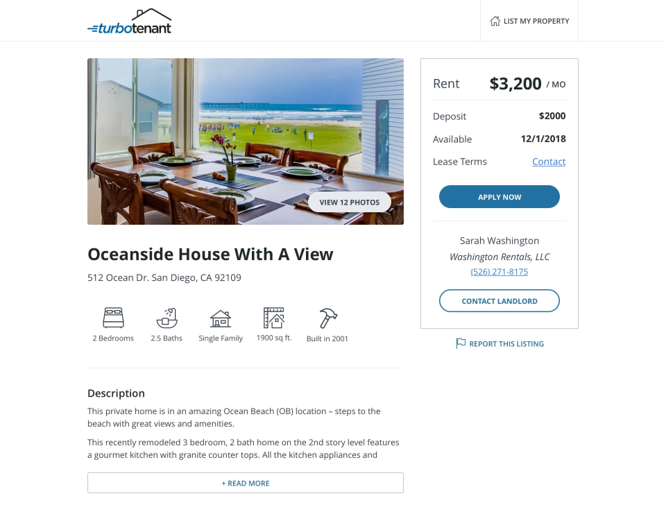 Turbo Tenant Reviews and Pricing - 2019