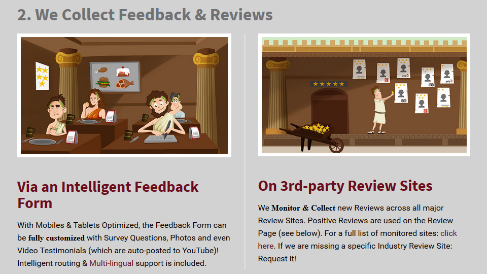 Collect Feedback, Reviews