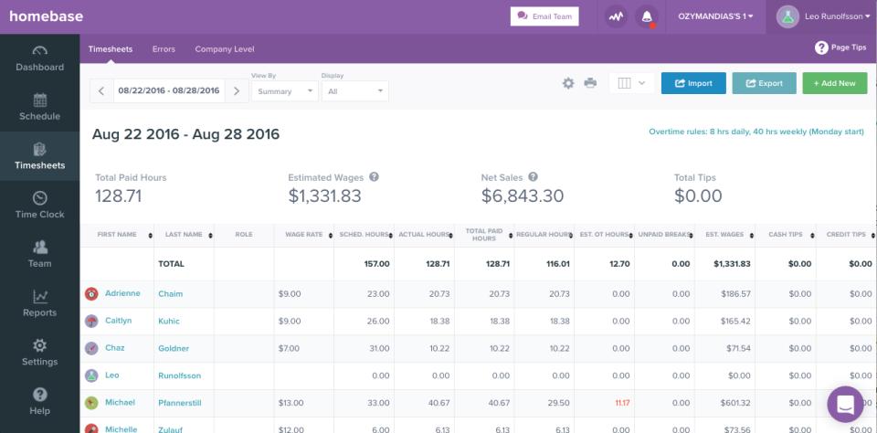 homebase reviews and pricing