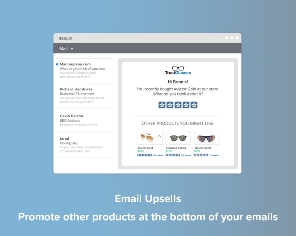 Email Upsells