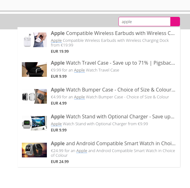 Ecommerce search tools