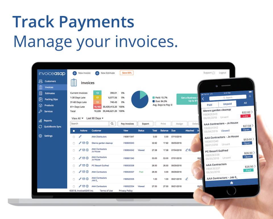 InvoiceASAP Reviews And Pricing - Quickbooks invoice manager 2018