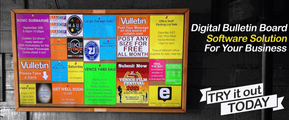 how to make a digital bulletin board