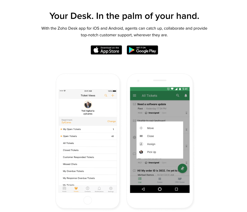 Helpdesk Mobile App