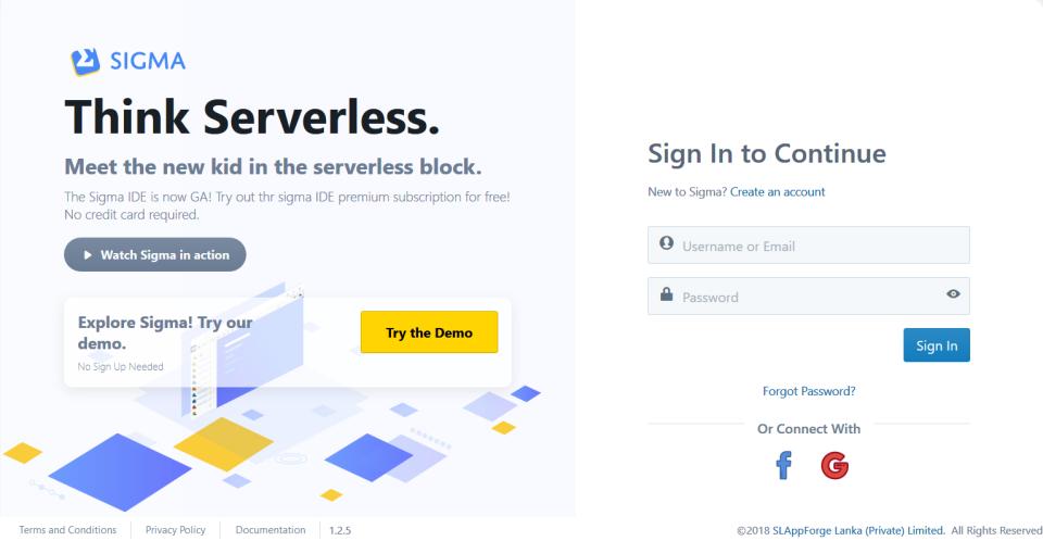 Sigma: Think Serverless!