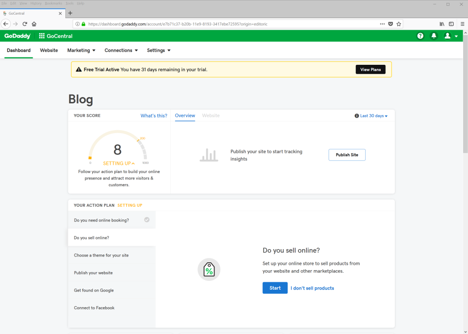 GoDaddy Website Builder Reviews and Pricing - 2019