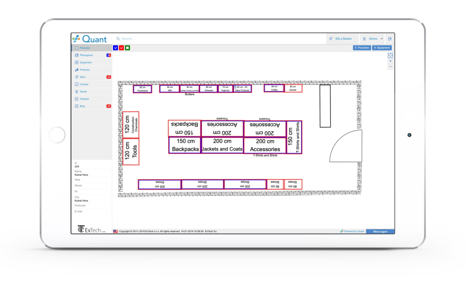 Store Layout on Quant Web