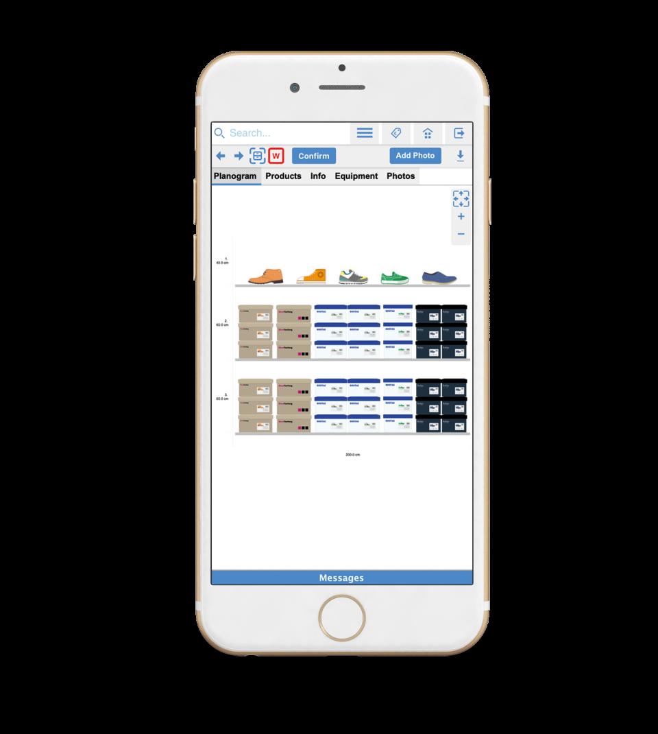 Planogram on Smart Phone