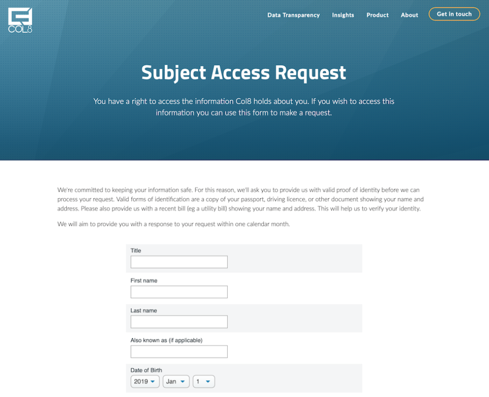 Embedded form in your web