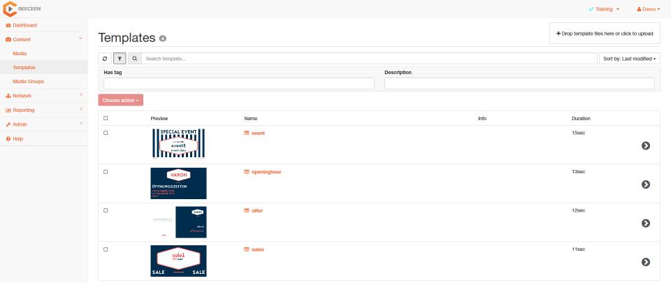 BCN Dashboard Templates