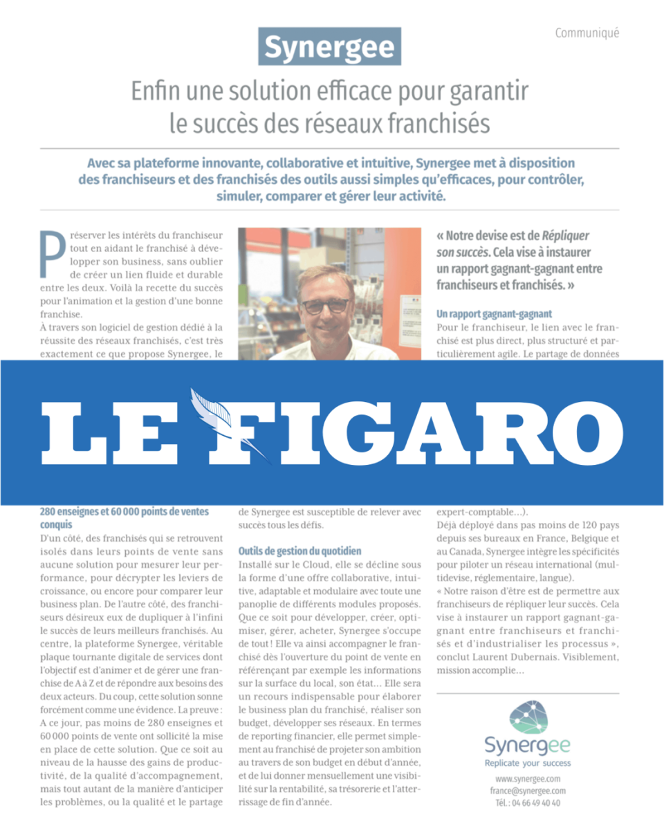 "Interview in ""Le Figaro"""
