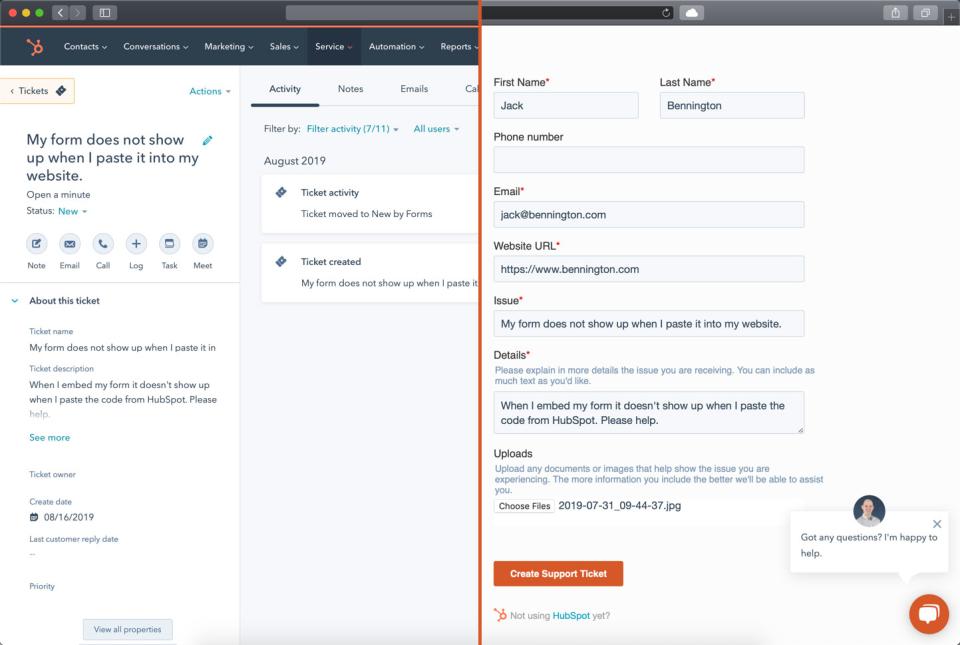 HubSpot Form Integration
