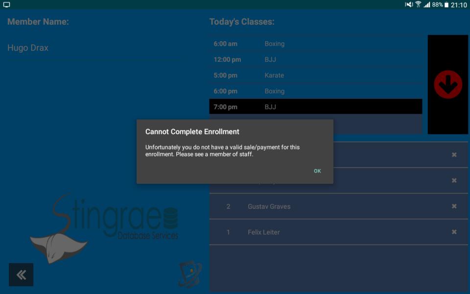 Class Registration - App