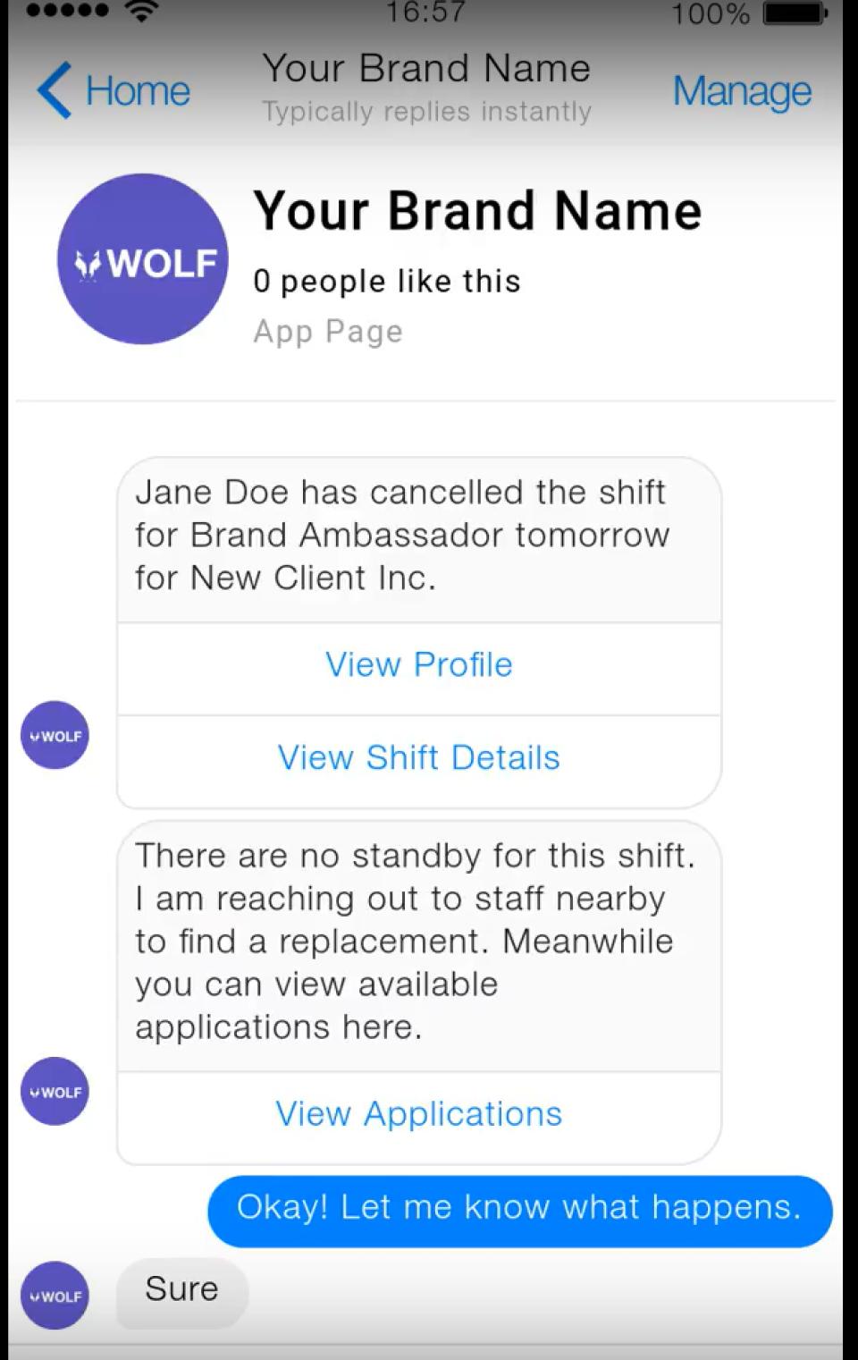 Bot Replacing Staff