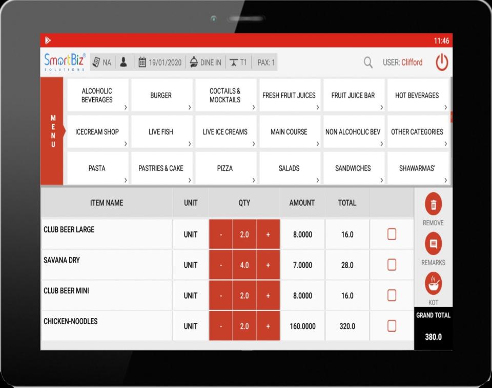 Server Tablet App