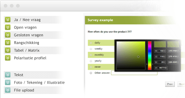 Questionnaire creation